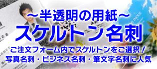 男性専用のかっこいい名刺販売サイト-名刺 名刺デザイン スケルトン名刺